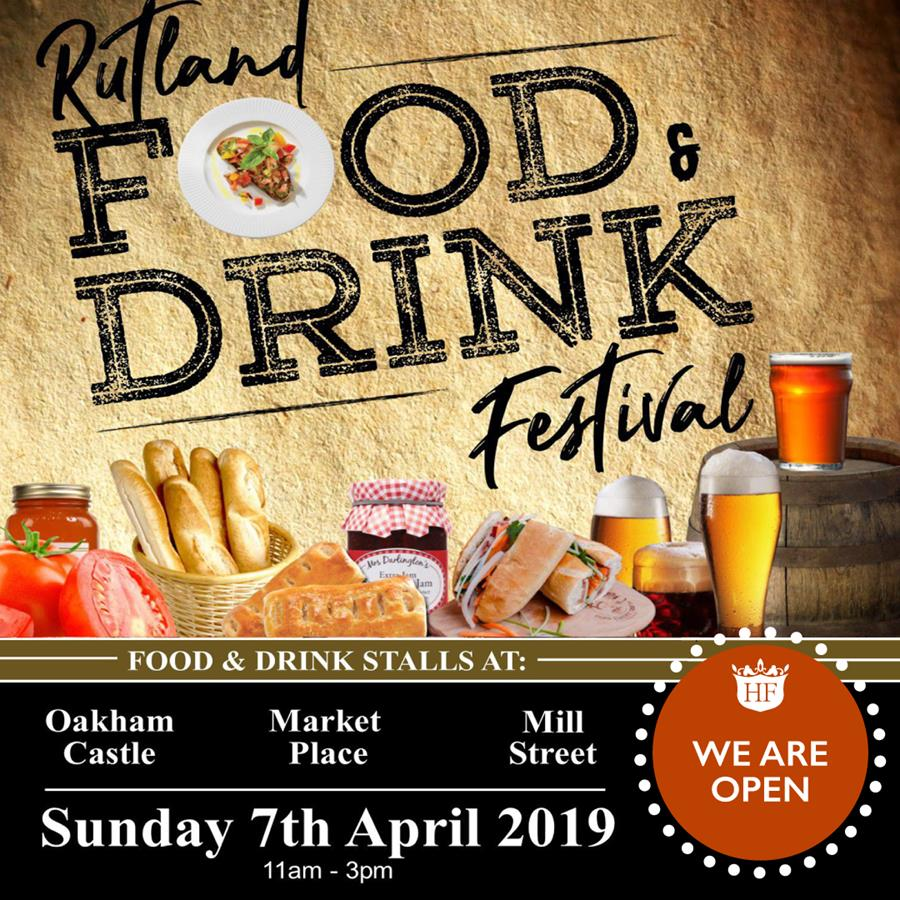 We are open Sunday 7th April for the Rutland food and drink festival