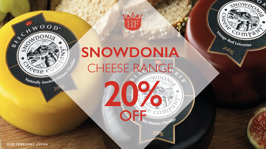Snowdonia Cheese range save 20%