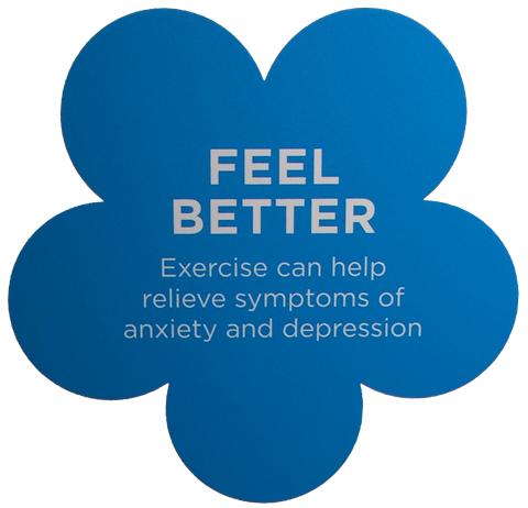 Feel better: exercise can help relieve symptoms of anxiety and depression
