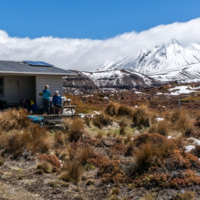 Oturere Hut, Mt Ngauruhoe, Tongariro National Park. Photo:  ©Janette Asche.