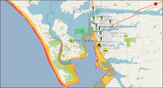 Hazard information on public facing map (website)