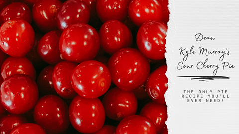 graphic recipe card for Kyle Murray's cherry pie recipe