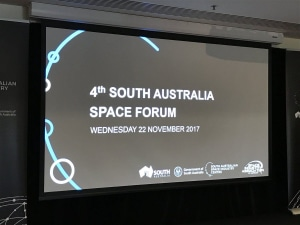 A 200-strong Adelaide crowd gathered for the 4th South Australia Space Forum. Credit: @CSST_NZ via Twitter