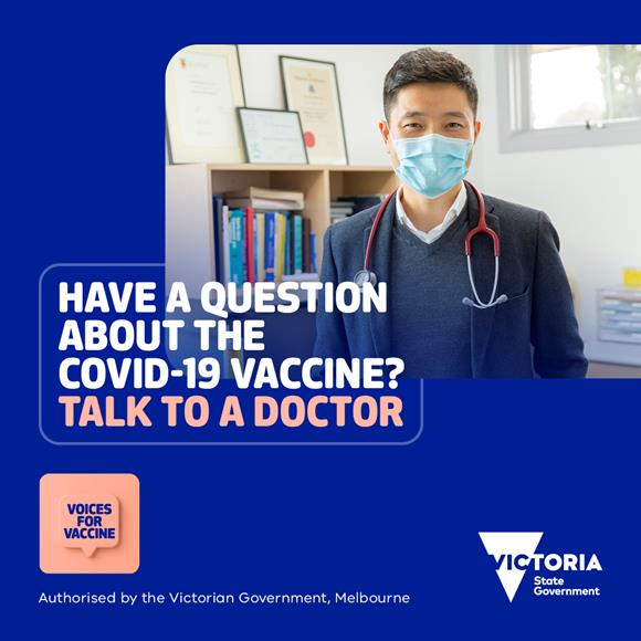Have a question about the COVID-19 vaccine? Talk to a doctor