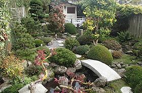 Japanese-inspired garden