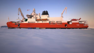 A concept image of the new icebreaker.