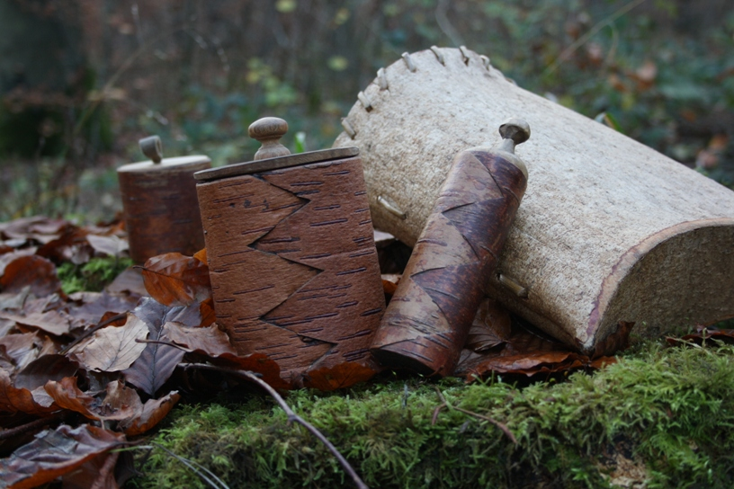Hand made bark containers