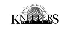 This is the logo for Kitchener Waterloo Knitters guild. It includes a ball of yarn with knitting needles.