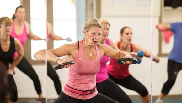 Women in a fitness class
