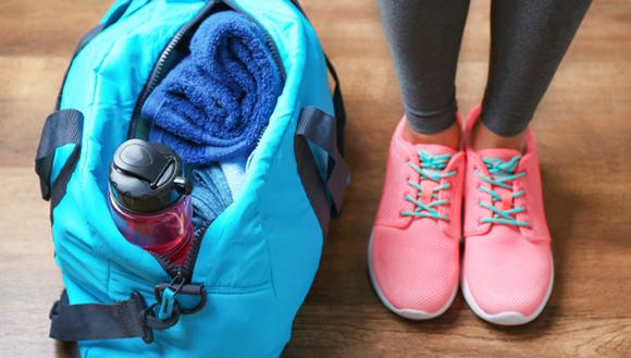 Gym bag and runners