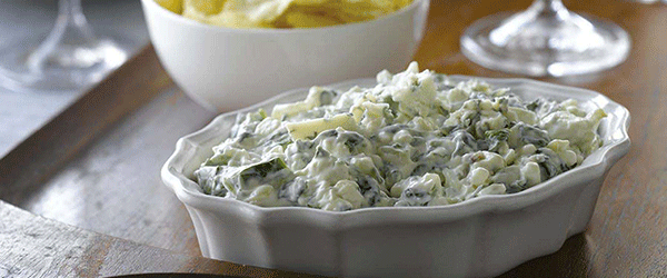 A bowl of Canadian Blue Cheese dip