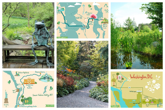Collage of self-guided day trips
