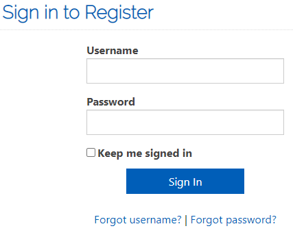 Sign in to Register