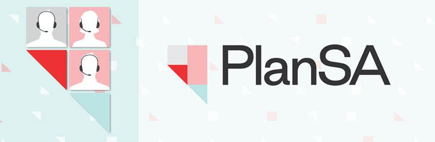 PlanSA Service Desk graphic with PlanSA logo