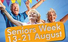 Senior residents celebrating