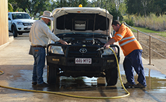 Image of Calliope car wash-down facility