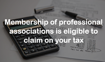 Pay your membership by 30 June to claim on your tax