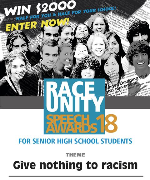 Image of Race Unity Speech Competition Poster