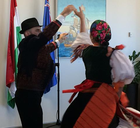 Performers at the exhibition