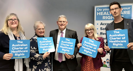 Panel of speakers for launch of second edition Australian Charter of Healthcare Rights