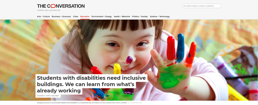 Inclusive built environment for students with disabilities