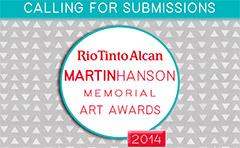 Rio Tinto Alcan Martin Hanson Memorial Art Awards poster