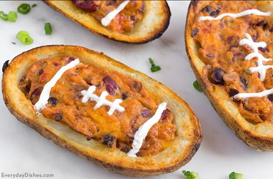 Football potato skins