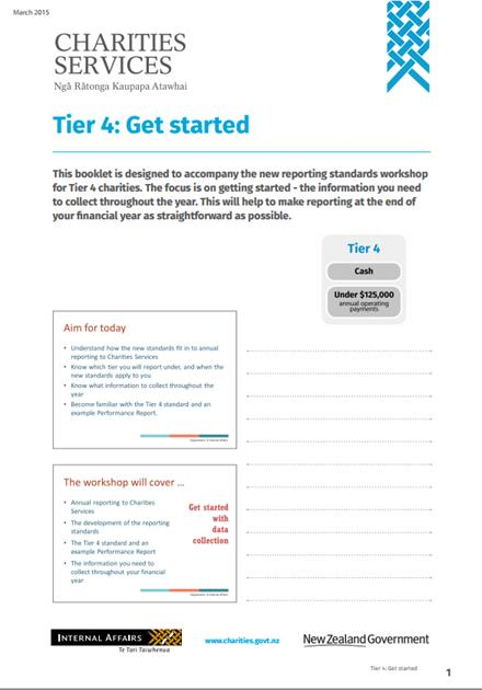 Image of the tier 4 booklet