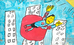 Drawing from primary school student Mason Neill-Ballantine
