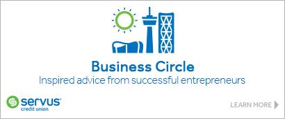 Ad: Servus Credit Union – The Business Circle