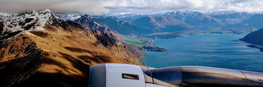 Flying into Queenstown