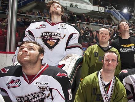 SOBC – Delta athletes at a Vancouver Giants game
