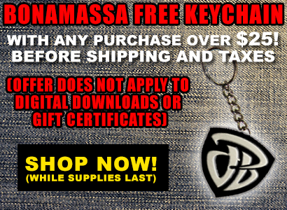 Bonamassa Free keychain with every purchase over $25! Shop Now
