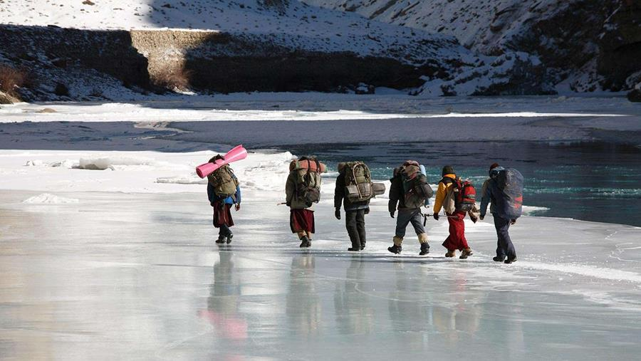Trekking the semi-frozen Zanskar River