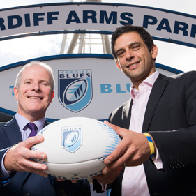 Photo of Andrew West and Peter Ghattas of Cardiff Blues