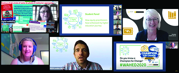 Screenshots from World Access to Higher Education Day