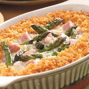 asparagus and ham bake