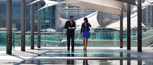 Two business people in Dubai
