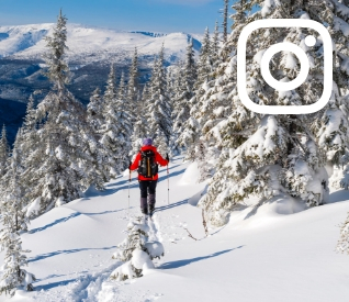 Ski in parc national de la Gaspésie