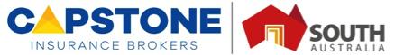 Capstone Insurance Brokers logo and South Australia logo