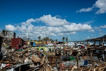 Typhoon Haiyan (Yolanda) devastation. Many houses were wiped out by container vans that were pushed by the typhoon from a nearby port in Tacloban, Leyte, Philippines. Image: Asian Development Bank,