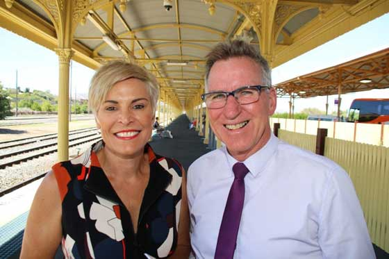 Wodonga Councillor Anna Speedie and Albury Mayor Kevin Mack - photo courtesy Wodonga Council