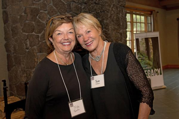 Former OCF Board members Trish Smith and Sue Hollern at the Bend reception celebrating Trish and welcoming new Board member Romy Mortensen.