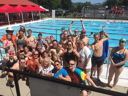 Special Olympics swim team at BC Games