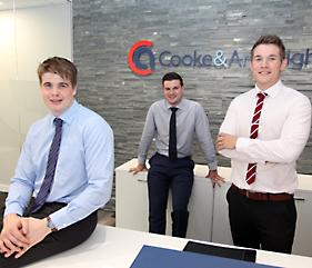 Gabriel Davies, Dominic Garner and Rhys Price