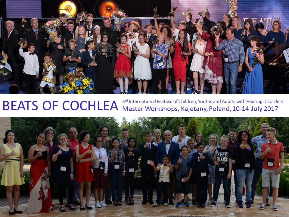Two group photographs from BEATS OF COCHLEA