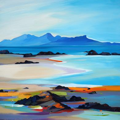 Shore to the Small Isles. 80 x 80 cm