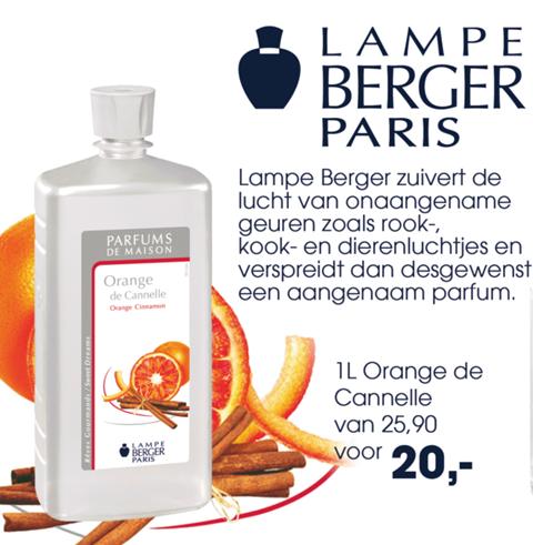 Lampe Berger Orange Canelle geur van de maand Jens Valk Buitengewoon koken