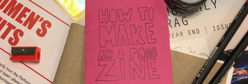 Zine making materials.
