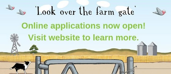 Look over the farm gate logo